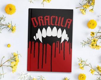 Dracula Inspired Hardcover Journal / Dracula Notebook / Gift for Book Lovers / Literary Gift / Halloween / Horror / Bram Stoker