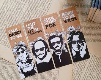 Literary Classics Bookmarks / Austen Poe Shakespeare Wilde / Literature Puns