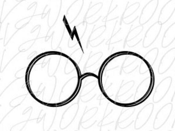 Harry Potter Glasses Svg Harry Potter Scar And Glasses Etsy