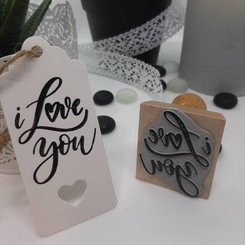 DIY Stamp I love you love valentine/'s day wedding love cards