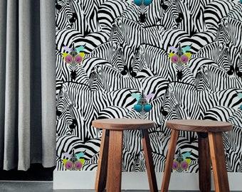 Sunglasses Zebra      Sunglasses Zebra   Removable Wallpaper   Peel and Stick    #37