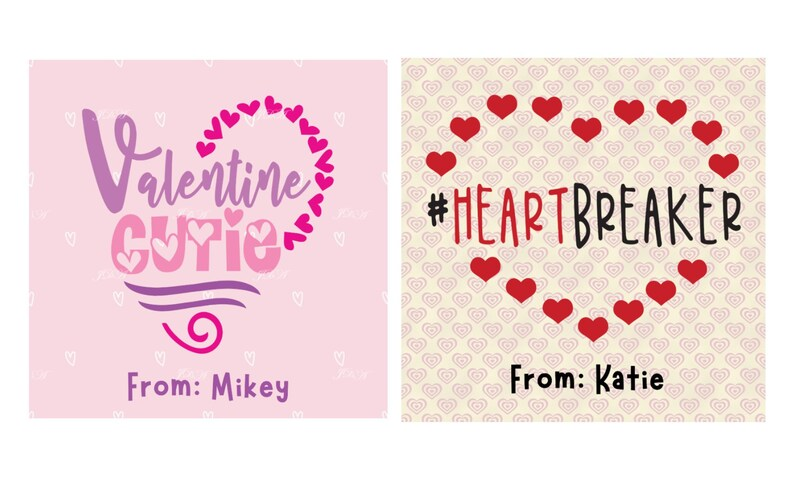 Valentine Day Card Digital Instant Download Valentine Card Bundle
