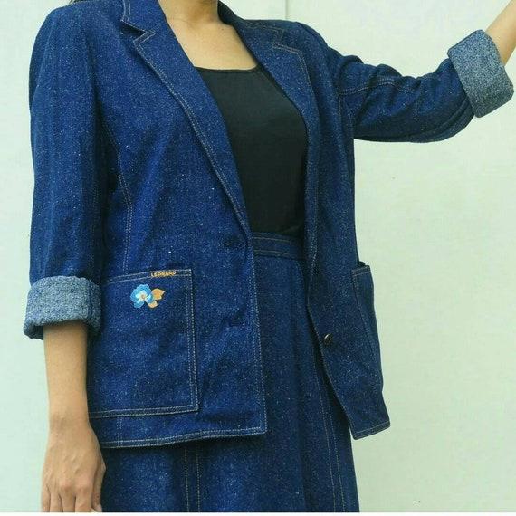 Leonard Paris Denim Jacket/Blazer