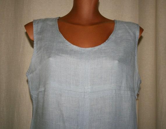 VINTAGE 90s gray linen dress / Vintage Tunic/boho
