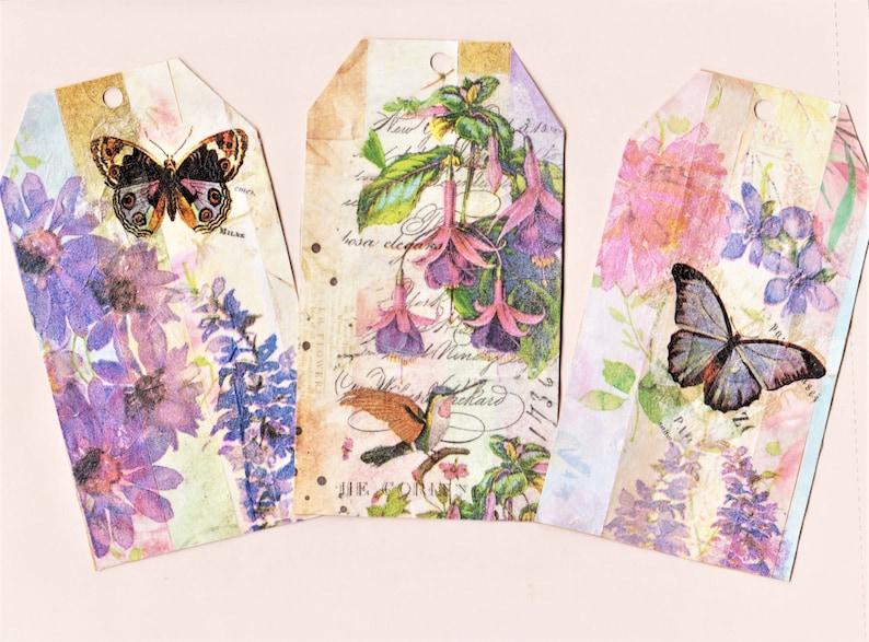 printable tags journaling floral tags NEW Digital Journal tags spring tags ephemera original designs scrapbooking collage tags