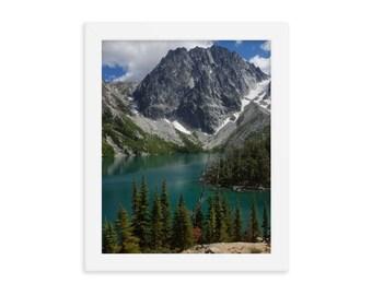 Colchuck Lake Washington Mountain Hiking Adventure Premium Tough Wireless Charging Phone Case for Apple iPhone Samsung Galaxy
