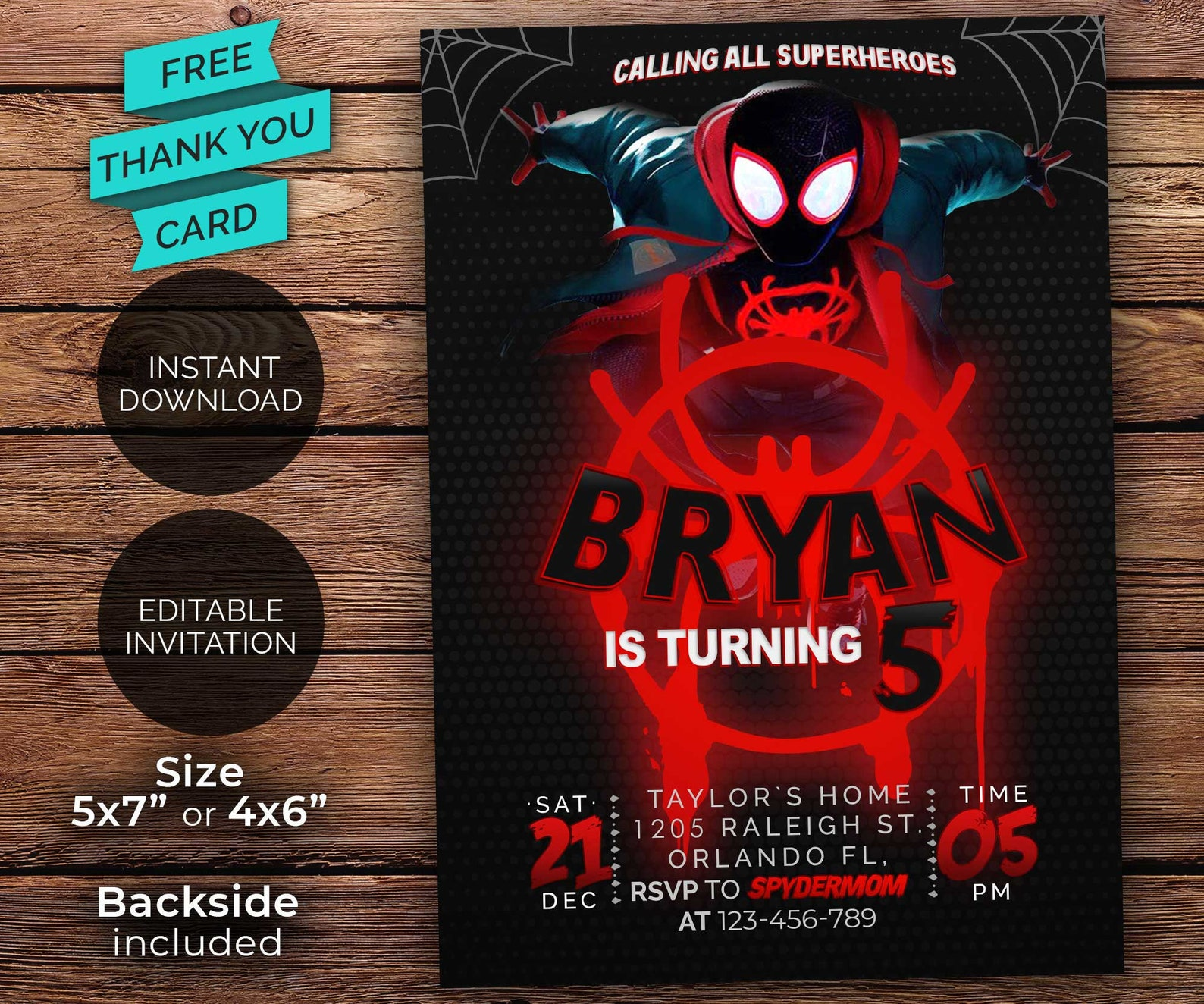 Printable Spiderman Invitations Page Four