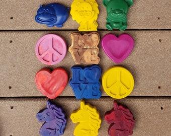Unicorn Crayons - Train Crayons - Animal Crayons - Heart Crayons - Emoji Crayons - Party Favors - Kids Birthday Gift - Holiday Gift