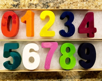 Kids Activity Kit - Crayon Numbers - Party Favors - Stocking Stuffer - Holiday Gift - Custom Gift