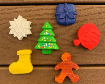 Christmas crayons - Holiday crayons - Christmas gift - Stocking stuffer - Holiday gift - Kids gift - Kids activity