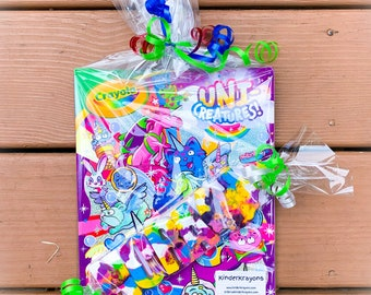 Coloring Books - Kids Gift Set - Unicorn Crayons - Name Crayons - Kids Birthday Gift - Party Favors - Stocking Stuffers - Holiday Gift