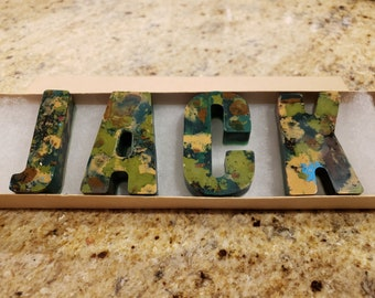 Boys Birthday Gift - Personalized Gift - Camouflage Name Crayons - Party Favors - Stocking Stuffers - Holiday Gift