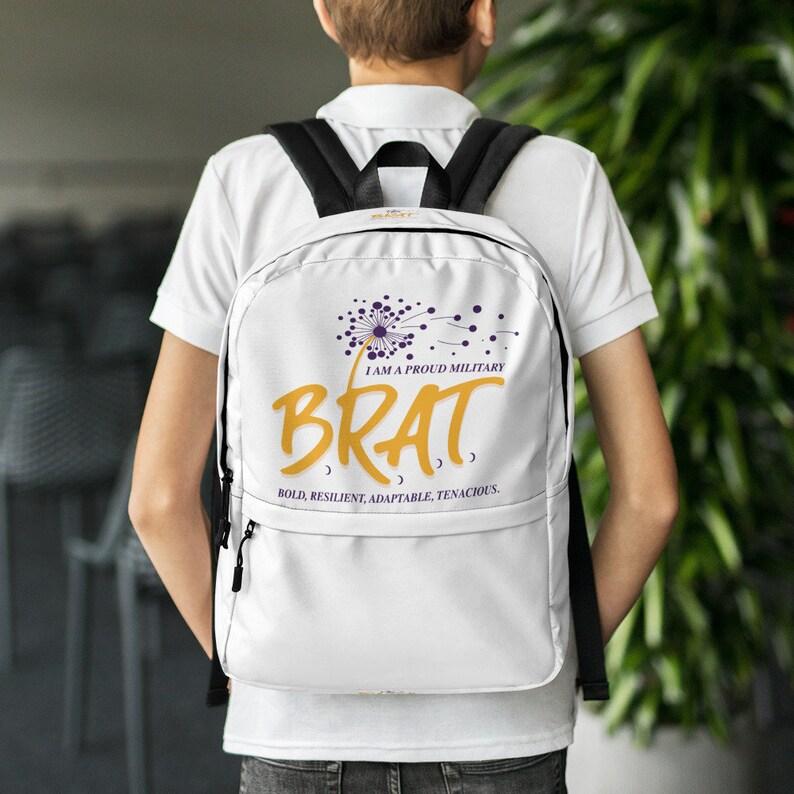 Brat White Backpack image 0