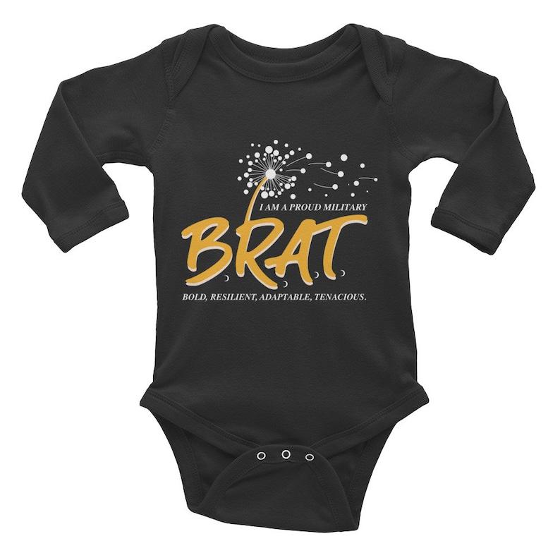 Brat Infant Long Sleeve Bodysuit image 0