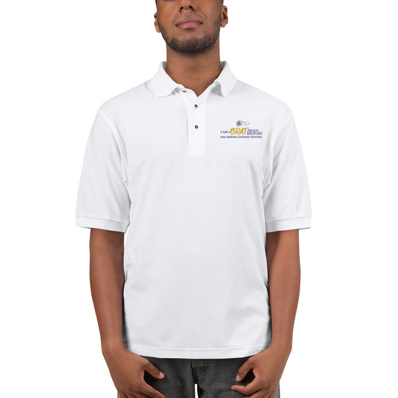 BRAT Embroidered Men's Premium Polo image 0