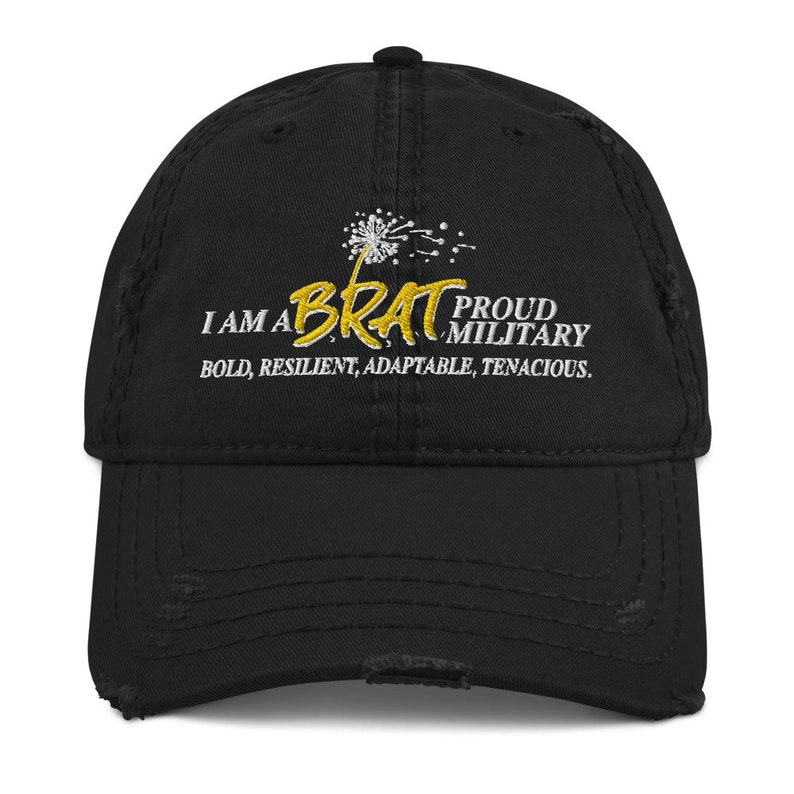 BRAT Embroidered Distressed Dad Hat image 0