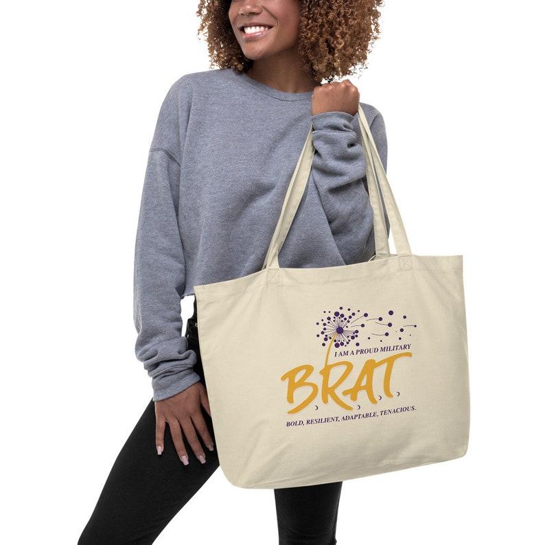 Brat Large organic tote bag image 0