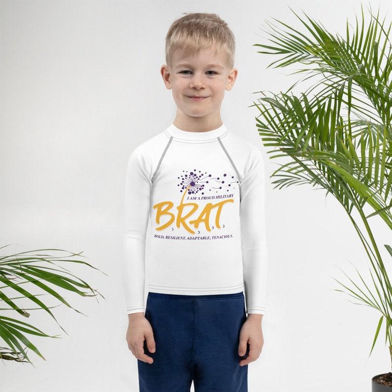 BRAT Kids Rash GuardLong Sleeve Shirt image 0