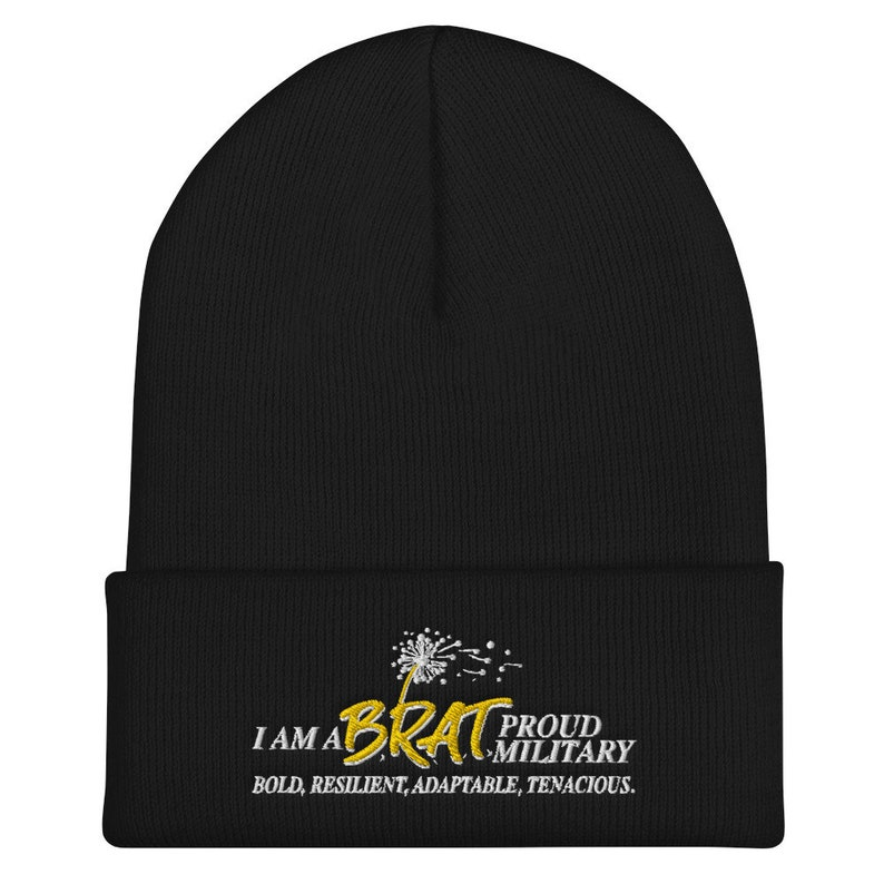 BRAT Embroidered Cuffed Beanie image 0