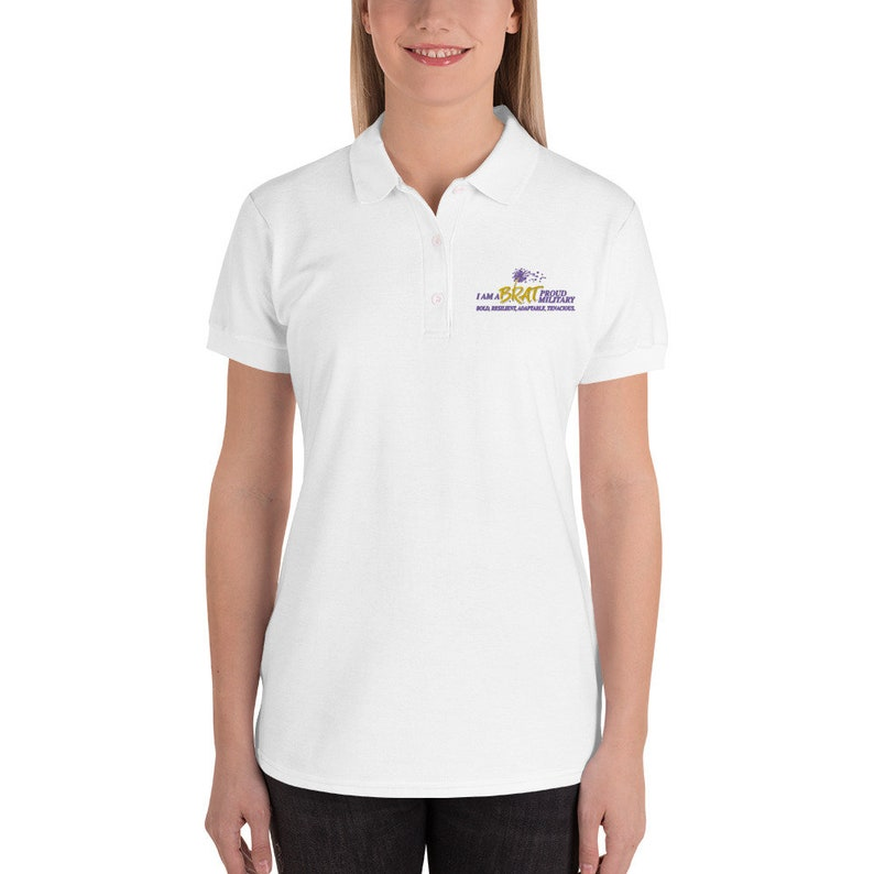 BRAT Embroidered Women's Polo Shirt image 0