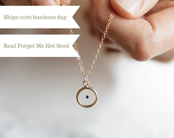 Forget Me Not Necklace | Seed of Loss | Seed of Miscarriage | Gift for Loss | Bereavement Gift | Pregnancy Loss | Miscarriage Gift | Loss