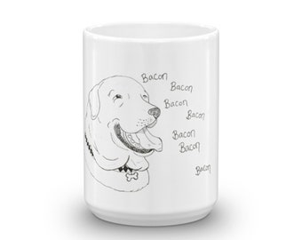 Bacon Happy Dog Mug