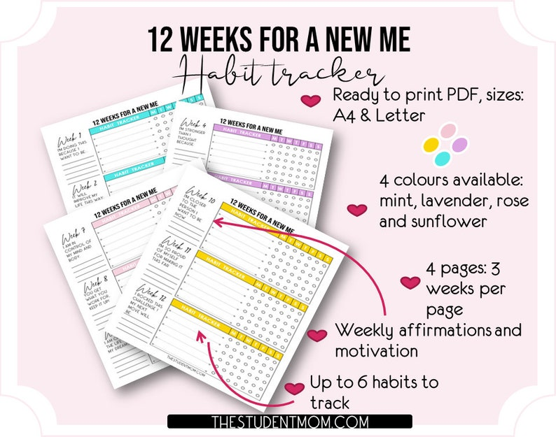 12 weeks for a new me Habit Tracker image 0