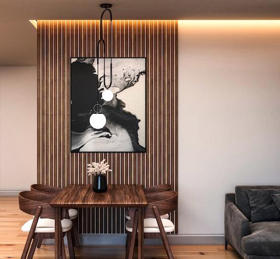 Wood slat wall | Wall decor wood slat | DIY wood slat wall | Wall panel | Wood wall decor | wood wall panel | 3d wall panel | wood slats