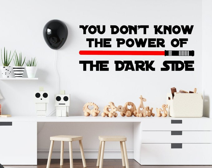 Power of the Dark Side (V2) - Custom Wall or Vehicle Vinyl Decal - Free Shipping