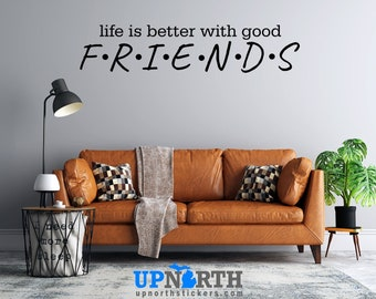 Life is Better - Custom Text - Custom Vinyl Wall Decal - Multiple Sizes and Colors - Personalize for Free - Free Shipping