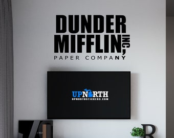 Dundler Miflin Paper Company - Vinyl Wall or Vehicle Decal - Multiple Sizes and Colors - Free Shipping