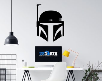 Bounty Hunter Helmet - Custom Wall or Vehicle Vinyl Decal - Free Shipping