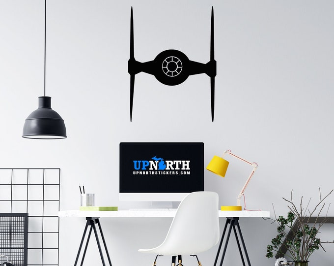 Tie Fighter - Custom Wall or Vehicle Vinyl Decal - Free Shipping