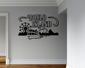 Boblo Island - Vinyl Wall and Vehicle Decal - Multiple Sizes and Colors - Personalize for Free - Boblo - Detroit