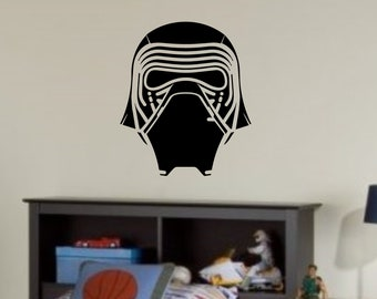 Kylo Helmet- Custom Vinyl Wall or Vehicle Decal - Personalize Free - Free Shipping