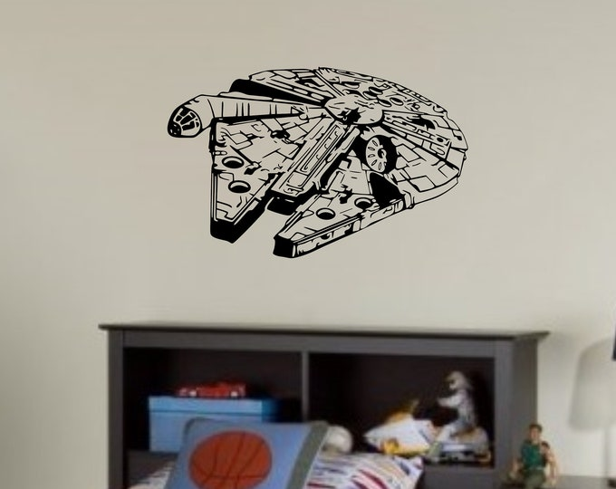 Millenium - Falcon - Custom Vinyl Wall or Vehicle Decal - Multiple Colors and Sizes - Personalize for Free