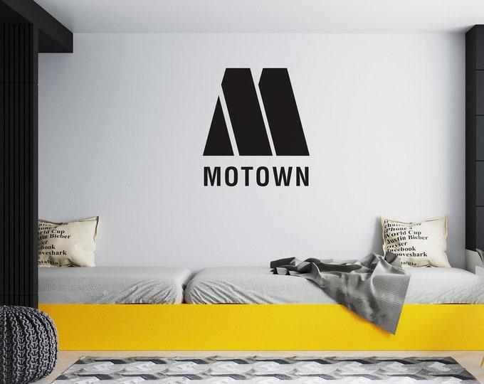 Motown M - Vinyl Vehicle or Wall Decal - Detroit - Motor City - Motown - Free Shipping