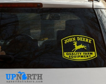 John Deere Vintage Sign - Vinyl Vehicle or Wall Decal  - Multiple Sizes and Colors - Free Shipping