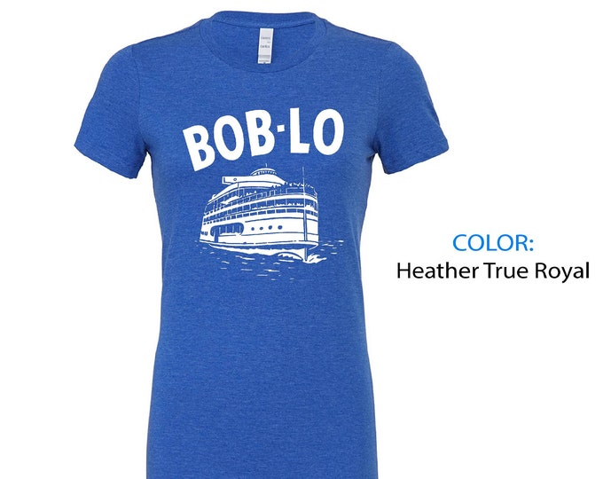Women's Tee - Boblo Island Boat (Michigan Vintage Collection) - Bob-Lo Boat - Detroit Michigan