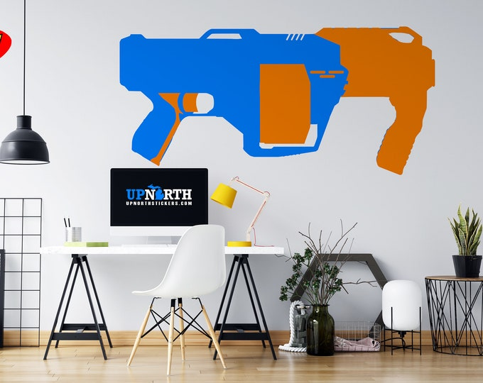 Launcher - Foam Dart Gun - Custom Vinyl Wall Decal - Free Shipping