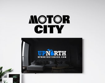 Motor City - Detroit - Vinyl Wall Decal - Detroit Michigan - Multiple Sizes and Colors - Free Customization