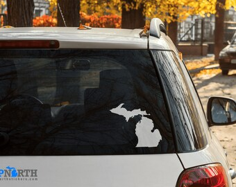 Michigan - State Shape Decal - Mitten State - Vinyl Decal - Multiple Sizes and Colors