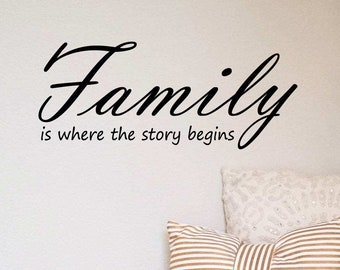 Family Story - Custom Vinyl Wall Decal - Multiple Sizes and Colors