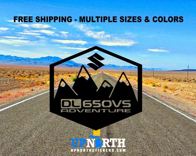 Vstrom Vinyl Decal - DL650 or DL1000 - Suzuki Vstrom DL650VS or DL1000VS - Adventure Motorcycle - Mountain Decal