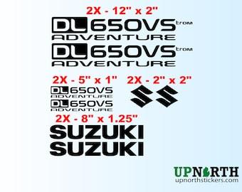Vinyl Decal Set - Suzuki Vstrom DL650VS Adventure Motorcycle - 8 TOTAL DECALS - Free Shipping