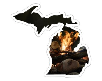 UpNorth Stickers - Campfire - Michigan Decal