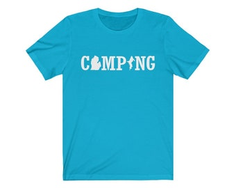 UpNorth Tee - Michigan Camping - Great Lakes State - Michigan Shirt