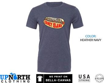 UpNorth Tee - Coney Island Hot Dog - Michigan Coney Island Shirt -  Free Shipping