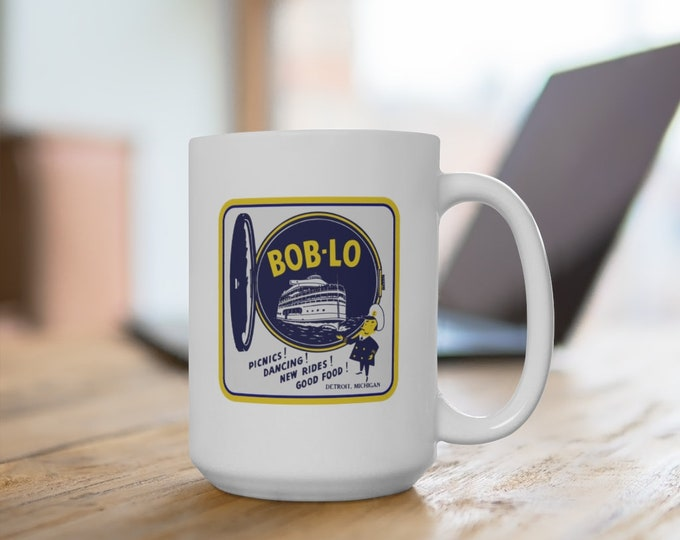 Ceramic Mug - Bob-Lo Boat Port Hole - 11 or 15 oz. - Coffee Cup