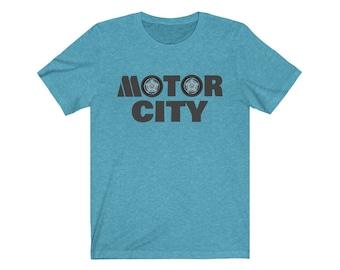 UpNorth Tee - Motor City Tires with Motown Style M - Detroit Michigan Shirt - Motor City - Motown